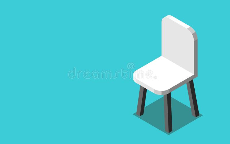 Ein isometrischer weißer Stuhl stock abbildung
