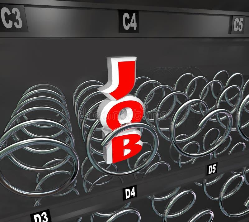 Ein Job Left im Arbeitsmarkt-Verkaufäutomaten stock abbildung