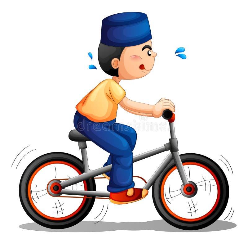 Ein Jungenradfahren vektor abbildung