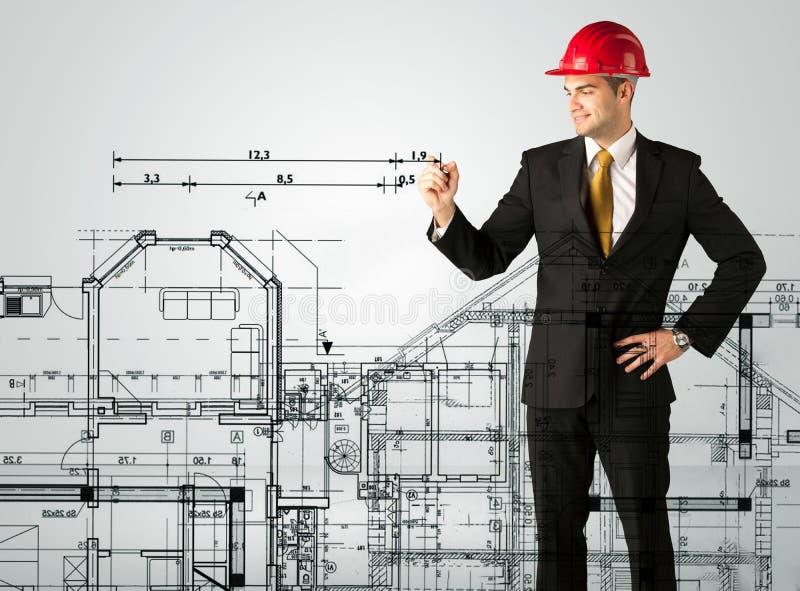 Download Ein Junger Architekt, Der Einen Hausplan Zeichnet Stockbild   Bild  Von Field, Auslegung