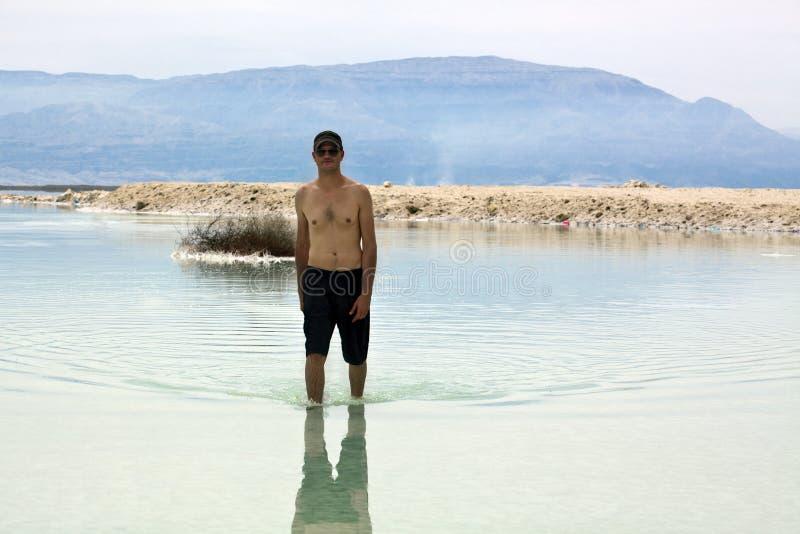 Tourist in Totem Meer stockbild