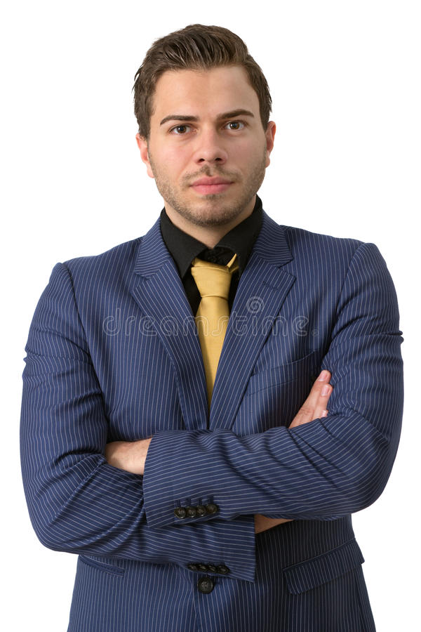 Ein junger strenger Geschäftsmann lizenzfreies stockfoto