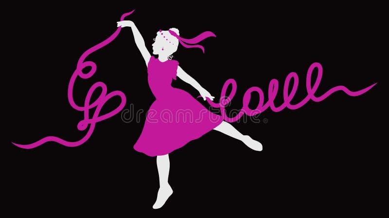 Ein junges Ballerinatanzen stock abbildung