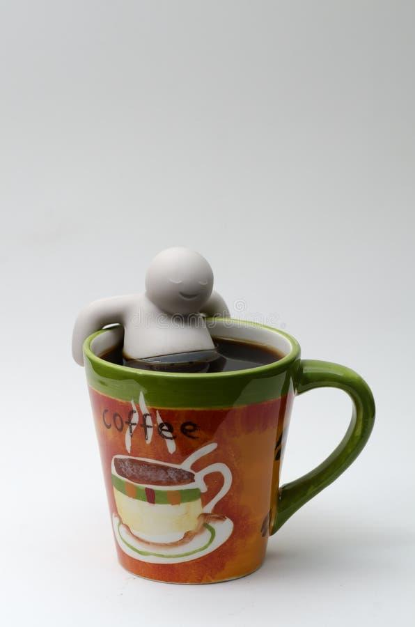 Ein Kaffee zum sich zu entspannen lizenzfreies stockbild