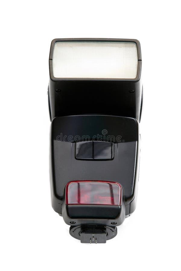 Ein Kameraröhrenblitz getrennt auf Weiß lizenzfreie stockbilder