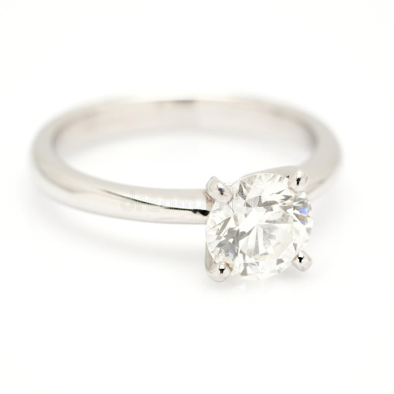 Ein Karat-DiamantSolitaire. stockfoto