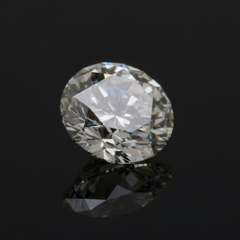 Ein Karat-runder Diamant. stockbilder