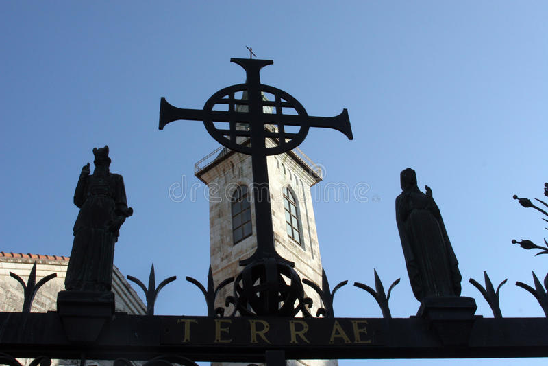 Ein Karem, iglesia del Visitation foto de archivo libre de regalías