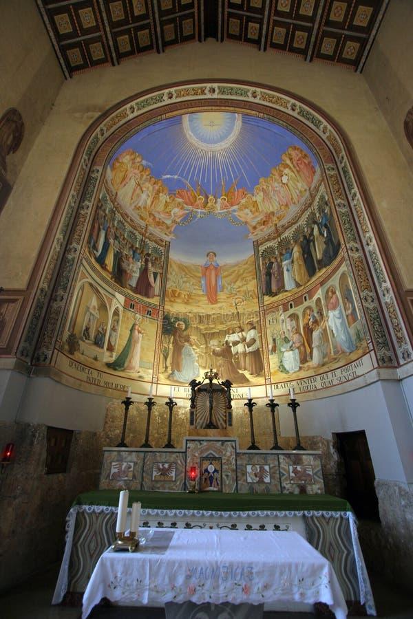 Ein Karem, iglesia del Visitation imagenes de archivo