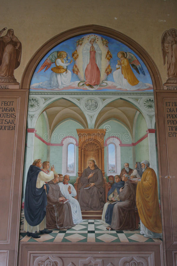 Ein Karem, igreja da visitação fotografia de stock royalty free