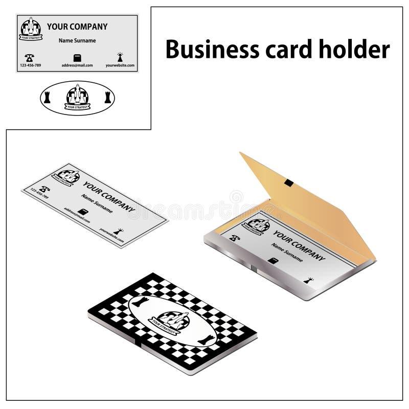 Ein Kartenhalter in einer Schachart stock abbildung