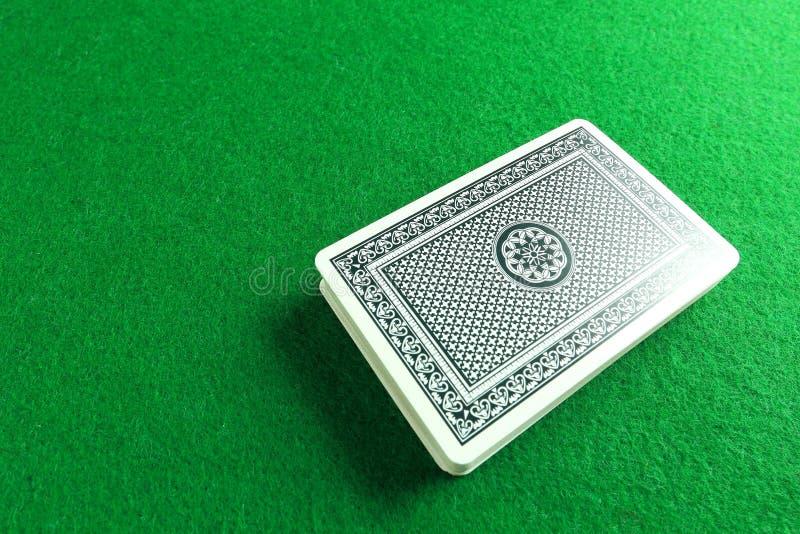 Ein Kartenstapel stockfoto