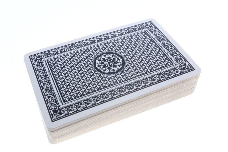 Ein Kartenstapel lizenzfreies stockbild