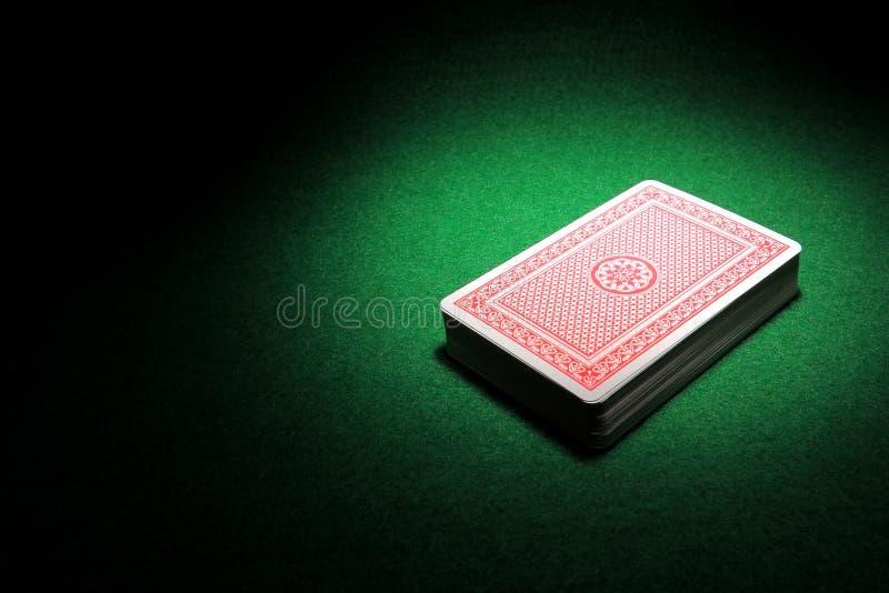 Ein Kartenstapeles lizenzfreie stockbilder