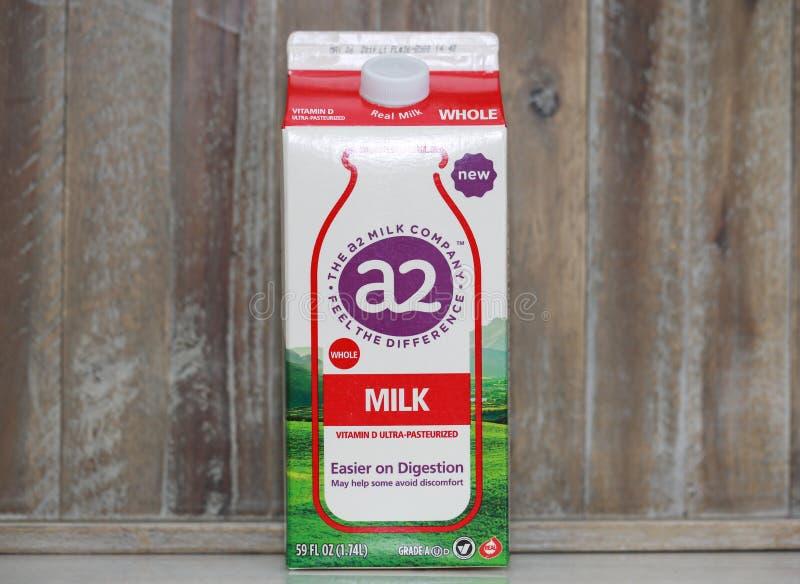 Ein Karton Milch A-2 lizenzfreies stockbild