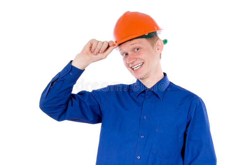 Ein Kerl bei der Arbeit lizenzfreie stockbilder