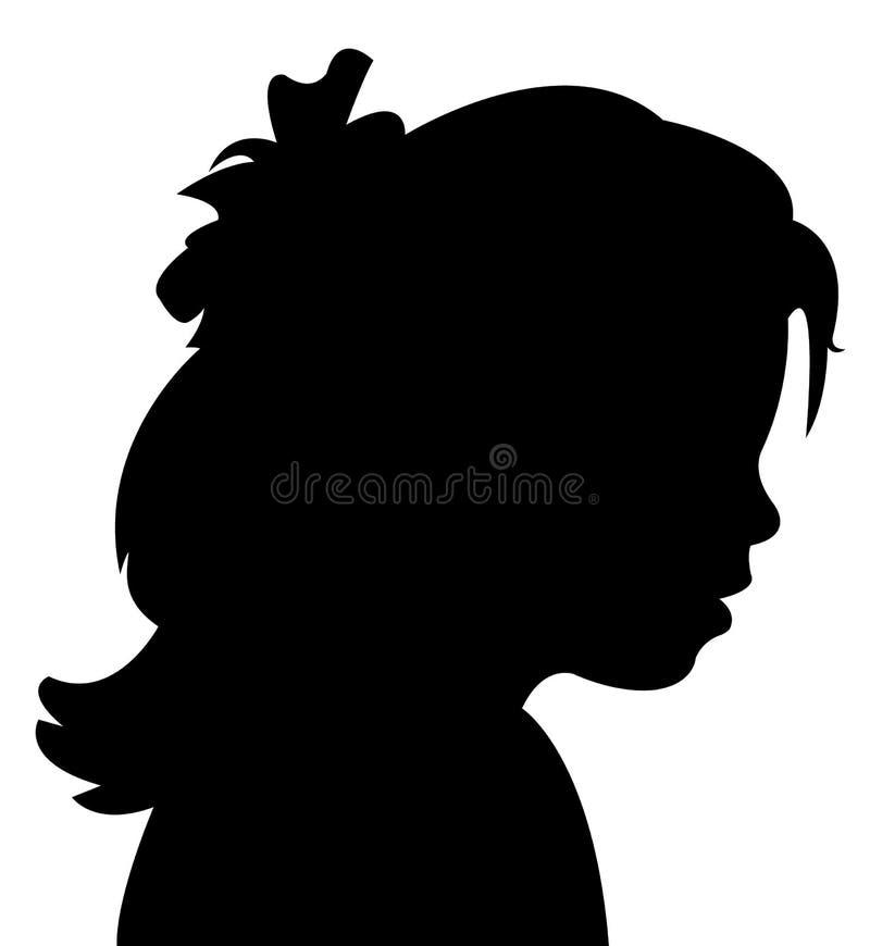 Ein Kinderkopf-Schattenbildvektor lizenzfreie abbildung