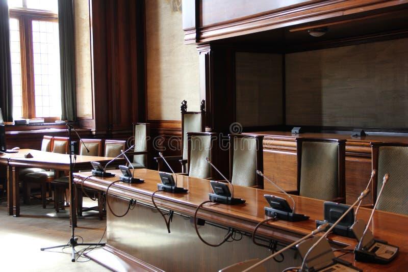 Ein klassischer Konferenzsaal stockfotos