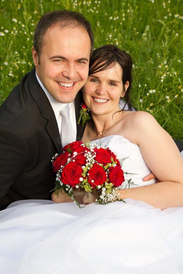 Ein klassisches wed eben Paare stockbild