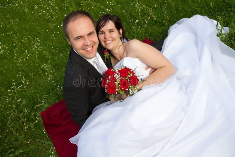 Ein klassisches wed eben Paarportrait stockfotografie
