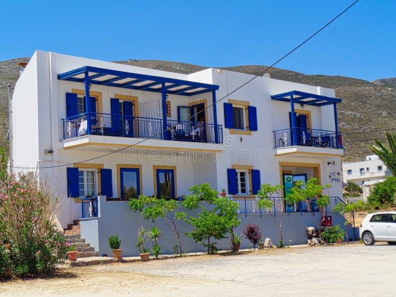ein kleines Hotel in Griechenland lizenzfreies stockfoto