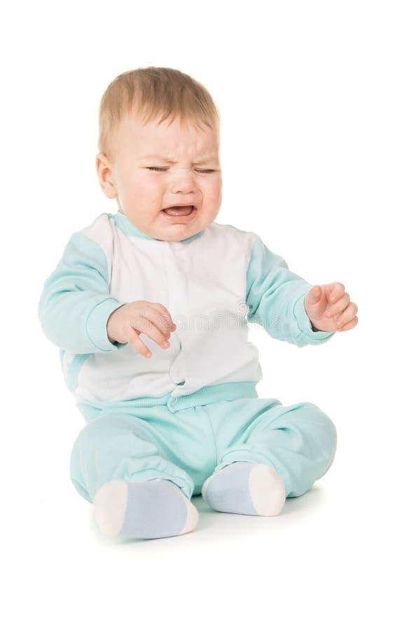 Ein kleines Kinderschreien lizenzfreies stockbild