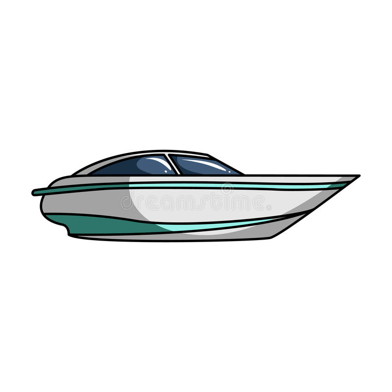 Ein Kleines Weißes Boot Mit Einem Motor Boot Für Geschwindigkeit Und ...