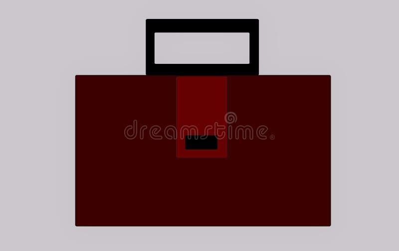 Ein Koffer eines Geschäftsmannes lizenzfreie stockbilder