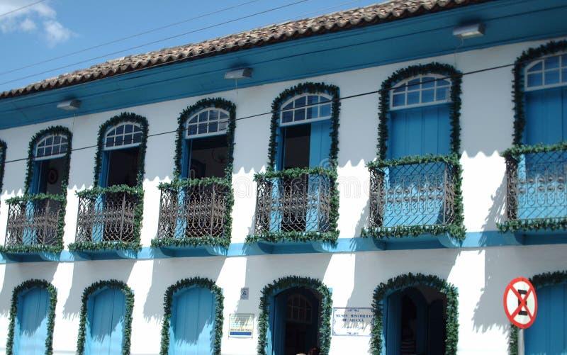 Ein Kolonialhaus in Brasilien stockfotos
