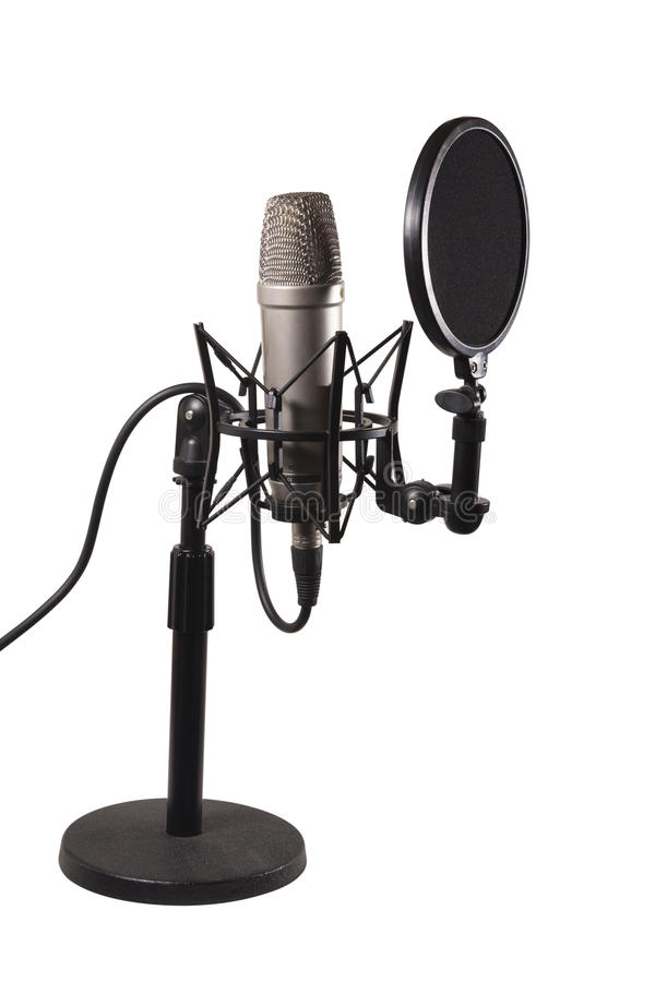Schreibtisch-Kondensator-Mikrofon lizenzfreie stockfotografie