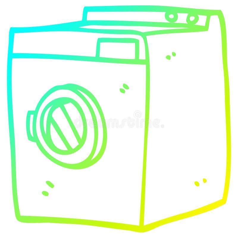 Ein kreativer Kalt-Gradient-Linie Zeichnen Cartoon Wäschetrockner stock abbildung