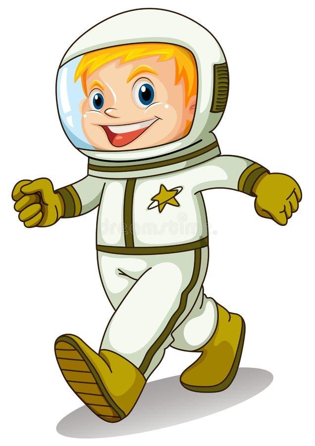 Ein lächelnder Astronaut vektor abbildung