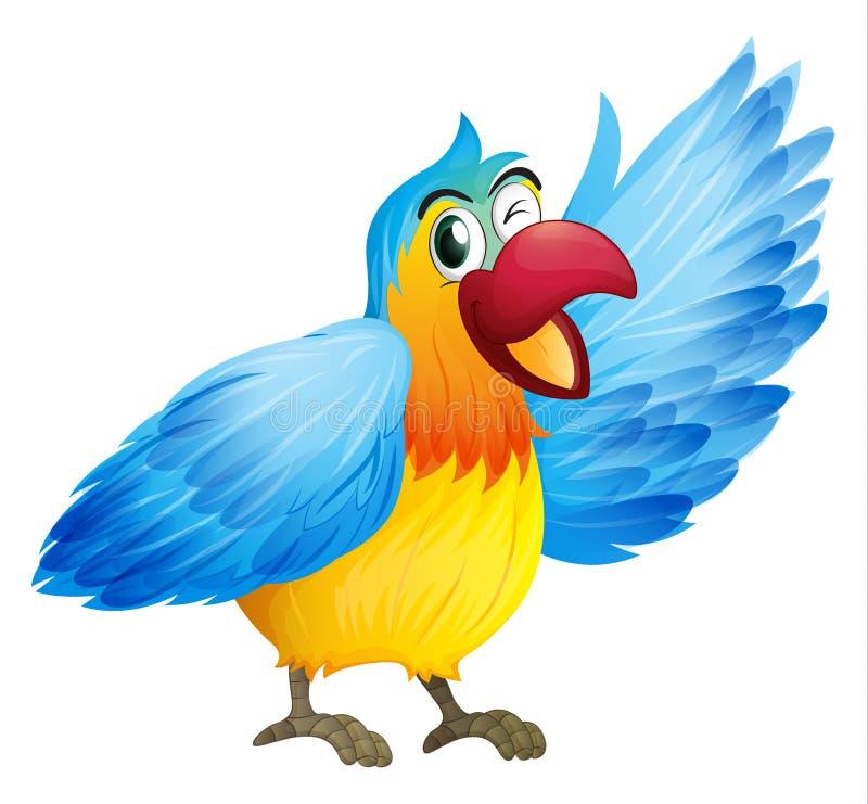 Ein lächelnder Papagei stock abbildung