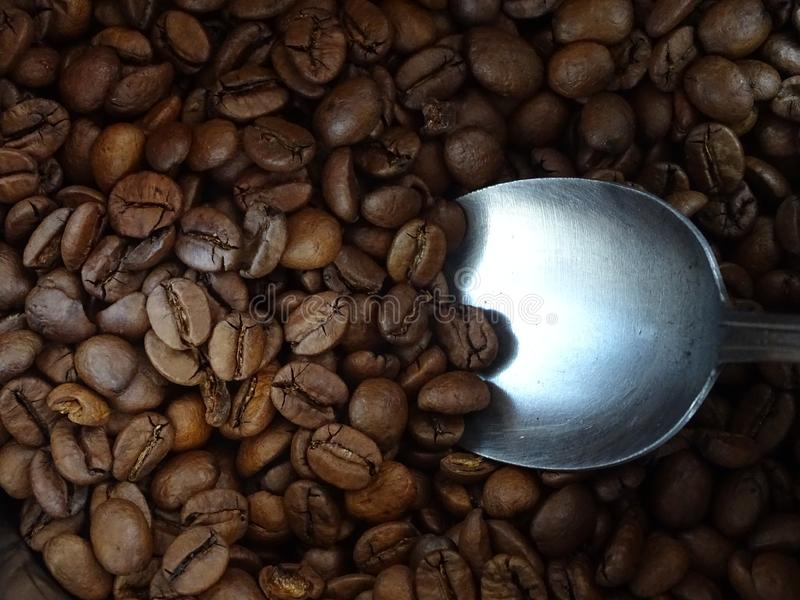 Ein Löffelvoll guter Kaffee lizenzfreies stockbild