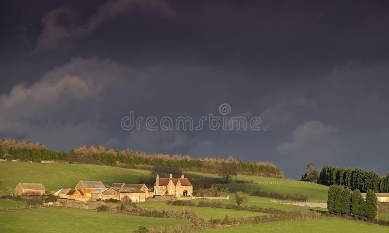 Ein Landbauernhof lizenzfreies stockfoto