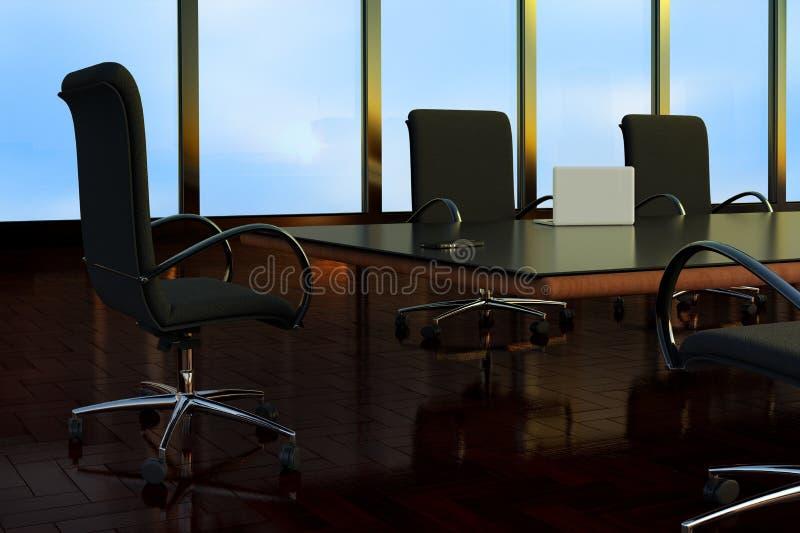 Ein leerer Sitzungssaal in einem B?rogeb?ude vektor abbildung