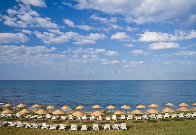 Ein leerer Strand stockbild