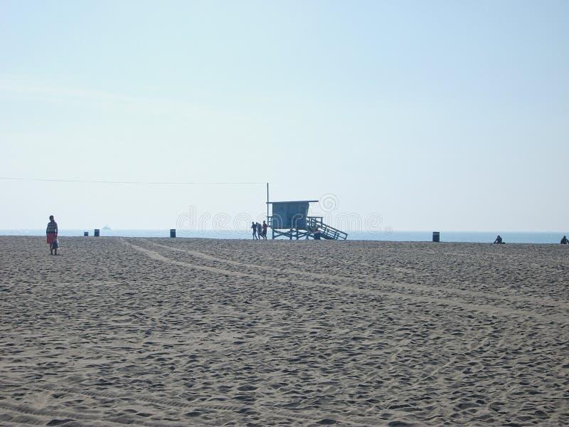 ein leerer Strand in Miami lizenzfreies stockfoto