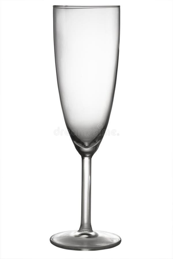 Ein leeres Champagnerglas stockbilder