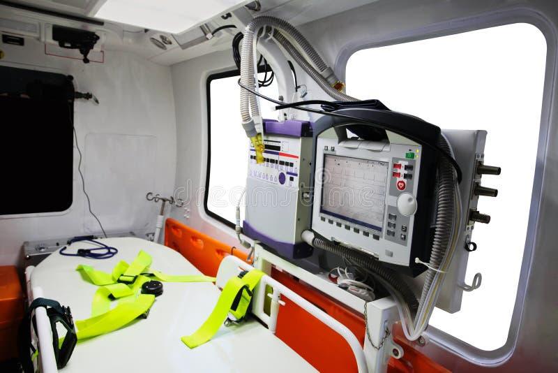 Ein leeres Krankenwagenauto stockfotos