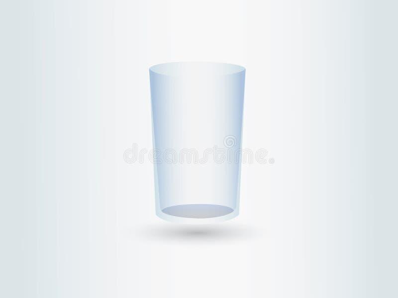 Ein leeres transparentes Glas für Trinkwasser oder Getränke stock abbildung