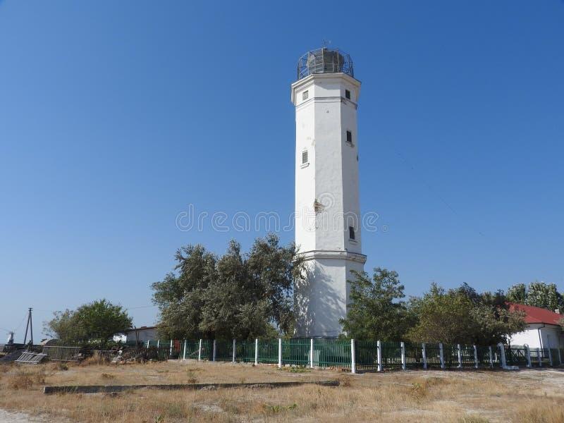 Ein Leuchtturm auf dem Schwarzen Meer stockfotos
