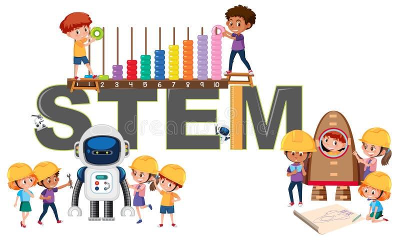 Ein Logo der STAMM-Ausbildung lizenzfreie abbildung