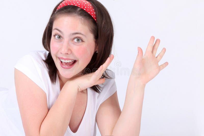 Ein Mädchen stockfoto