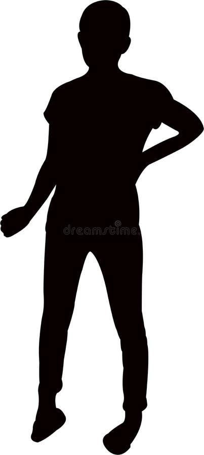Ein Mädchenkörper-Schattenbildvektor lizenzfreie abbildung