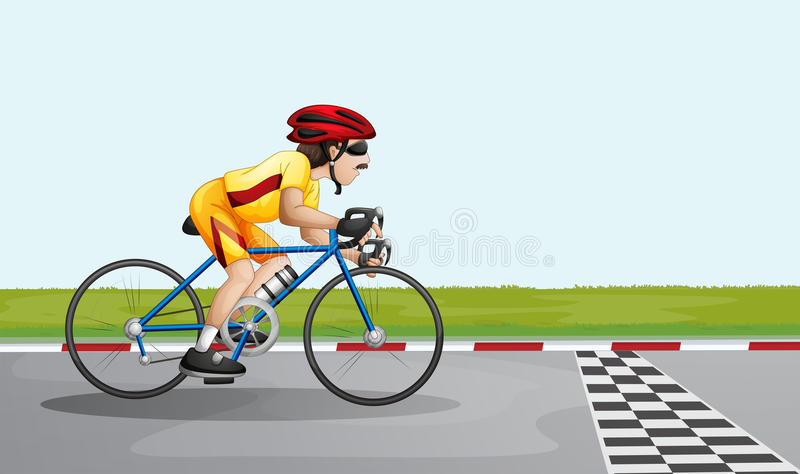 Ein Mann, der einem Rennen sich anschließt vektor abbildung