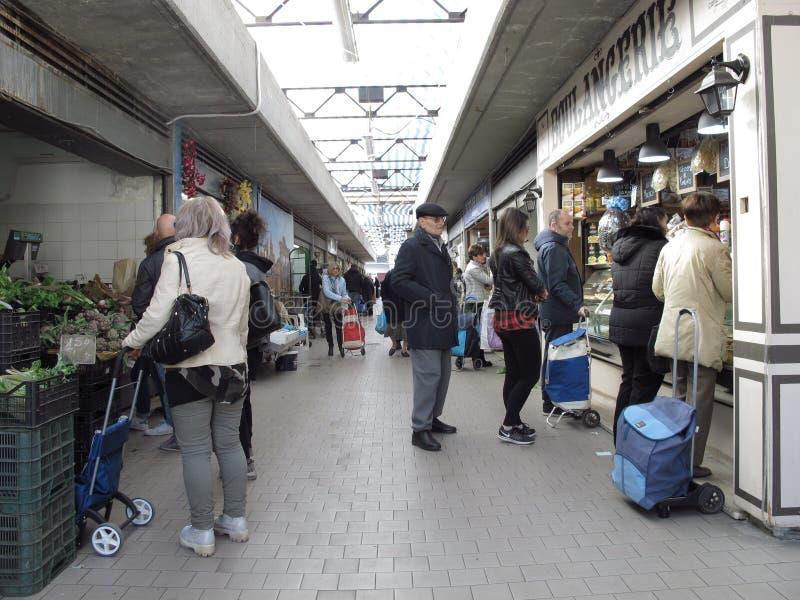 Ein Markt der städtischen Stadtrände von Rom lizenzfreie stockbilder