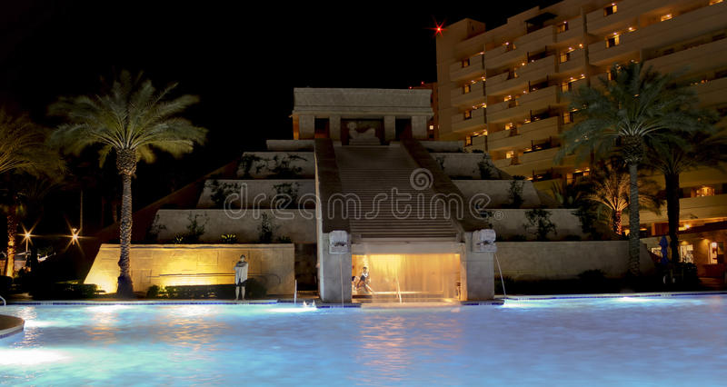 Ein Maya-Waterscape, Cancun-Erholungsort, Las Vegas lizenzfreies stockbild