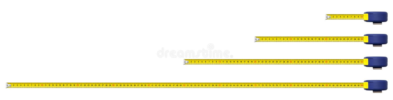 Ein Metermetallmaßband stockfoto