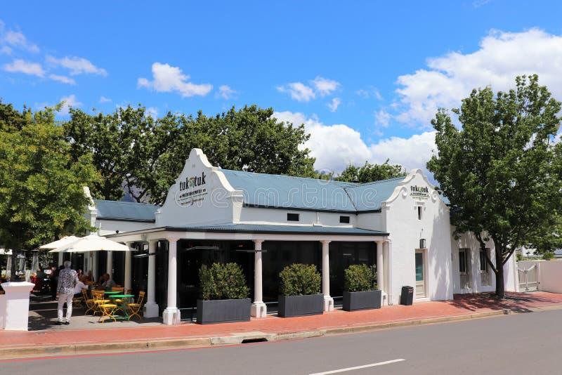 Ein Microbrewery in Franschhoek in Südafrika stockfotos